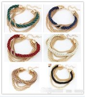 Wholesale Woman Bracelet Weave Chains Fashion Girls Women Accessory Lady Party Dress Bracelets Chain Colors BY0000