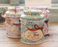 Wholesale 300pcs mini portable storage tank floral tea tin candy box