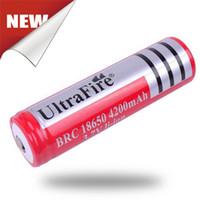 al por mayor las baterías de iones 12v li-Nuevo UltraFire 18650 4.2v 3.7v 4200mAh de Ultrafire 18650 de litio recargable PCB Li-ion para E Cigarette / cámara LED Fedex libre Shi