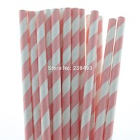 baby shower straws - Baby Pink Drinking Straws Mixed Colors Biodegradable Decorative Baby Shower Party Striped Paper Straws