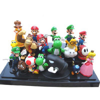 Wholesale Super Mario Bros set quot quot yoshi dinosaur Figure toy Super mario yoshi figures PVC retail