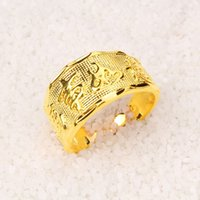 bezels for coins - Euro coins gold jewelry plated gold rings for men luck K24K supply opening rings JZ070