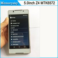 Wholesale Z4 inch MTK6572 Dual Core MB RAM GB ROM Android WCDMA Mobile Phone mAh Battery G GPS Unlocked smart Phone by DHL