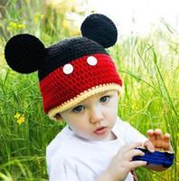 baby crochet beanie pattern free - Baby Boys Girls Hat Crochet Pattern Mickey Minnie Cartoon Character Hat Infant Toddler Winter Children Animal Beanie Cotton
