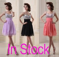 black coral - In Stock Spaghetti Graduation Short Prom Dresses Ink Blue Coral Black Lilac Real Image Sexy Backless Homecoming Party Gowns Cheap