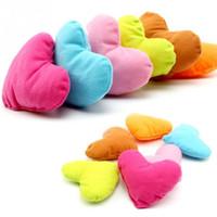 Wholesale 2015 Candy Color Cute Large Plush PP Cotton Heart Pillow Pet Toys For Large Dog Bite Resistant Soft Puppy Pet Toys For Dog