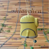 accessories garden car - Minions Ceramic jewelry Wind Chime despicable me DIY Craft Handicraft Yard Garden Outdoor Living Wind Chimes creative Car accessories A44