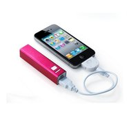 Wholesale Mini mah Lip Gloss Mobile Power Bank Supply to External Backup Battery Charger iPhone Samsung HTC Cell Phone