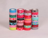 decorative tape - Scrapbooking Washi Tapes Stickers Rushed Decorative Tape New Arrivel Pattern Adhesive Japanese Paper