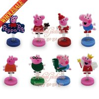 Wholesale New Arrival Hot Sale Cute Pig Spring Mini PVC Figure Doll Stands Cartoon Decoration Ornaments Party Supplies Favor Gift
