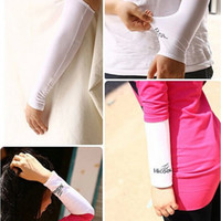 Wholesale 600 Pieces Unisex Adult Stretch Sports Sun Block Anti UV Protection Gloves Elbow Length Driving Arm Sleeves Arm Cooling Sleeve Covers