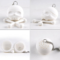 tea ball strainer - Creative Bones Skull Tea Strainer Balls Silicone Tea Infuser Filter Vintage Tea Accessories