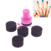 Wholesale 10sets DIY Nail Art Design Stamping Stamper Changeable Sponge Shade Transfer Kit