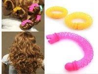 Wholesale 2015 New Fashion Arrival Lucky Donuts Curly Flexi Hair Curls Roller Twist Styling Tools Hair Accessories For Women S0140268