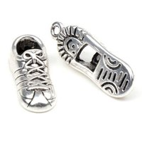 craft shoes - Tibetan Silver Tone Sport Shoes Charms Pendants Jewelry Craft DIY x27 mm