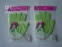 Wholesale pc Cloth Mitt Exfoliating Face or Body Bath Scrub Moisturizing gloves