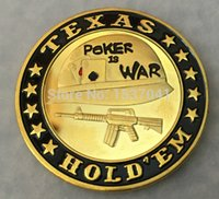gold bullion - 1 oz TEXAS HOLD EM POKER IS WAR Card Poker Chip Token k gold bullion Coin DHL