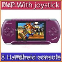 Wholesale hDHL inch PVP pocket Handheld console bit TV out games player Games Free card RW GP03 JX