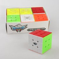 Wholesale 55mm Rubik s Magic Cube x3x3 Cyclone Boys puzzle cube Educational Toy Professional Stickerless Smooth Speed Cube Twist Puzzle x3