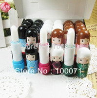 Wholesale Lovely Doll Lip Balm Lovely Cute Baby Girl Lip Balm Lipstick Fashion Good Quality Hot Selling