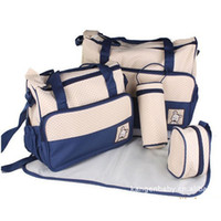 Feed Bag - Polka Dot Multifunctional set Mummy Bag Kids Baby Nappy Maternity Stackers Durable Feeding Bottle Diaper Bags Multi Color SK468