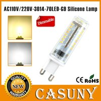 SMD halogen bulb - small led g9 w v dimmable light mini g9 led w led smd V bulb silicone body Replace Halogen Lamp warm white