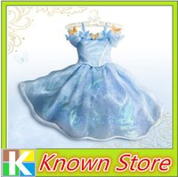 Wholesale 100pcs Short Sleeve Girls Summer Flower Dresses Cinderella Princess Party Performances Dress For