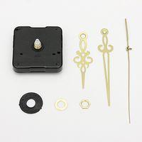 Cheap High Quality Gold Hands DIY Quartz Black Wall Clock Spindle Movement Mechanism Repair Parts FREE SHIPPING