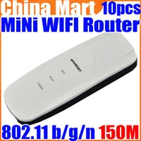 Wholesale Mini USB in1 b g n AP Client Mbps Wireless WiFi Router Repeater Extender Free Express
