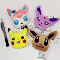 Wholesale 2016 Poke Plush keychain Pikachu Plush Keychain Pendants Stuffed Plush Toy With Ring cm new