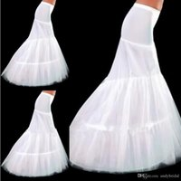 Other accessories mermaids - In Stock Mermaid Petticoats Crinoline Bridal Accessories Underskirt Slip Two Hoops Full Length Petticoat for Evening Prom Wedding Dress