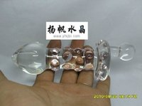 Wholesale small size cm clear crytal Pyrex glass dildo with pink bumps glass anal beads butt plug sex toys product