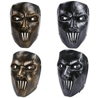 band high school - 1PCS Halloween masks horror movie Mick Slipknot band high grade gold and silver two color resin crafts