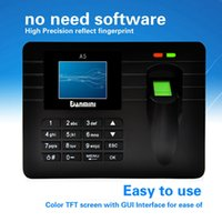 Wholesale LCD Display quot TFT Biometric Fingerprint Attendance Machine DC V A Time Clock Recorder Employee Checking in Reader A5