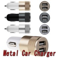 android iphone port - Hot selling Metal Dual USB Port Car Charger Universal Ports Sync Charging Adapter Bullet for iPhone iPad iPod Samsung Galaxy Android sma