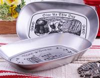 alpine storage - Japanese Zakka grocery storage disc pan silver retro iron disc stereo disc tin pan fruit plate