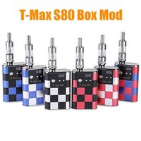 Cheap Newest T-MAX S80 Box Mod Starter Kits 5000mah TMAX S80 20W VV V2 Mod with LCD Display Huge Vapor E Cigarette Free Shipping