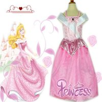 beauty clothes - 2015 New Kids Girls Sleeping Beauty Princess Dress Cosplay Costumes Wear Perform Clothes Dresses Wedding Party Dress C001