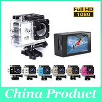 Wholesale 720P Full HD HDMI SJ4000 style D001 Inch LCD Screen Action Camera M Waterproof Camcorders Rechargeable mah Sport DV