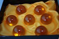 gold Plastic Ball 4.5cm Magic Dragon Balls Activity Amusement Toys Crystal Ball Boys Girls Christmas New Year Gifts 7 Balls D2940