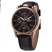 Wholesale MEGIR Brand Fashion Casual Quartz Watch Luminous Chronograph Genuine Leather Straps Watches Men