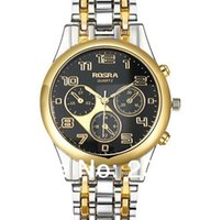 Wholesale New Luxury Rosra Stainless steel Strap Quartz Men Business Casual WristWatch Hours Full Steel Male Watches Christmas Gifts