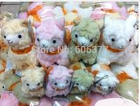 alpaca silk - 20x16cm Japanese Arpakasso Amuse Genuine Silk Scarves Alpaca Doll Stuffed Plush Toy For Girl
