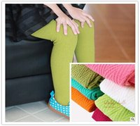 best thick leggings - Best Selling Girl s Knitted Cotton Tights Ripple Winter Christmas Footed Tight Thick Warm Stocking Candy Color