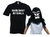 ask men style - Summer Style Funny t shirt for man Short Sleeve Monkey Ask Me About My Gorilla Print Cool Swag Fitness Men s T shirt Tops