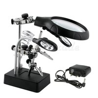 Wholesale Hot Sale LED Helping Hand Stand Clip Magnifier Loop Tool Clamp Magnifying Repair Loupe Excellent Quality