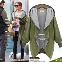 Wholesale Europe and America Fashion Casual Hooded Large Size Women Autumn Increase The Fat Sister Was Thin Jackets Women outerwear coats