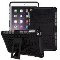 Cheap For iPad air 2 Hybrid Impact Dual Layer Robot Cover Case Kickstand For iPad 2 3 4 5 Mini air