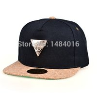Wholesale Cotton Color Match Korea Style Fashion Caps Golden Triangle Mark Letters Baseball Cap Men Brand Embroidery Hip Hop Cap