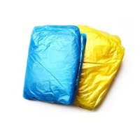 Wholesale Hot sale Disposable PE Raincoats Poncho Rainwear Travel Rain Coat Rain Wear gifts mixed colors LJP468